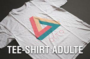 banniere tee-shirt adulte