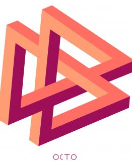 tee-shirt double-triangle octo