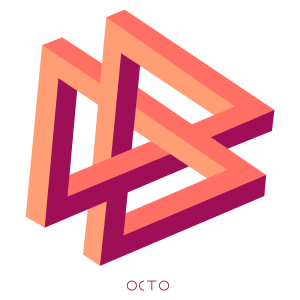 tee-shirt double-triangle octo