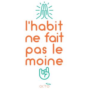 tee-shirt moine