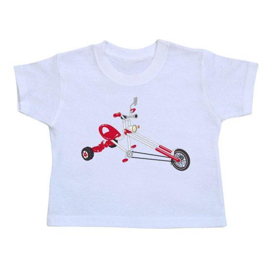 t-shirt enfant 3 cycles blanc