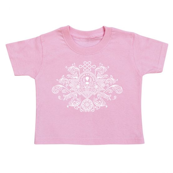 t-shirt-enfant-blason-rose