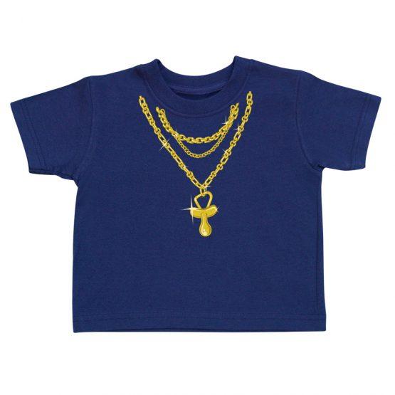 t-shirt enfant bling bling bleu