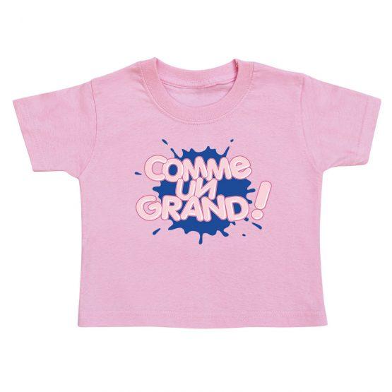 t-shirt-enfant-bubblegum-rose