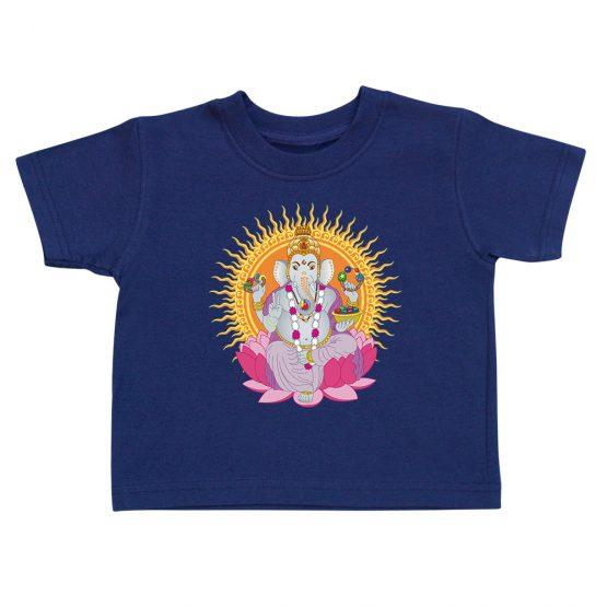 t-shirt-enfant-ganesh-bleu-marine