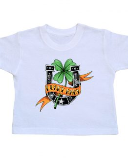 t-shirt-enfant-lucky-baby-blanc