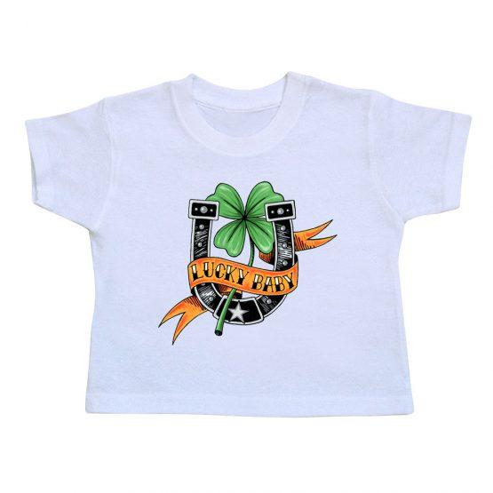 t-shirt-enfant-lucky-baby-blanc