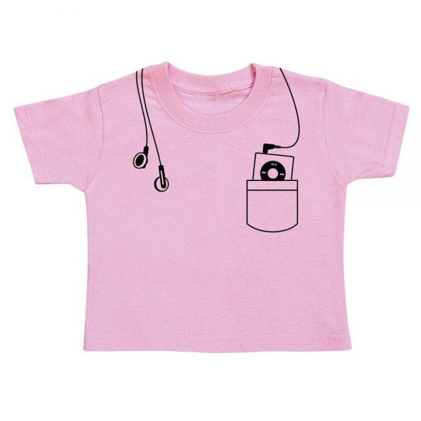 t-shirt-enfant-mp3-rose